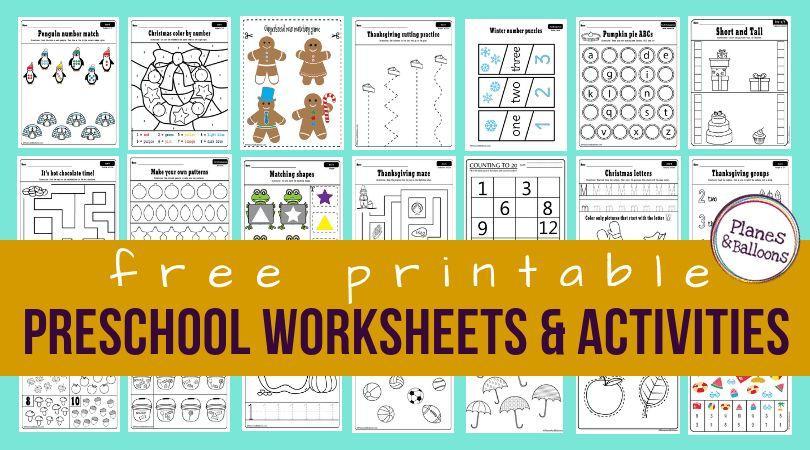 Preschool Worksheets Age 3-4