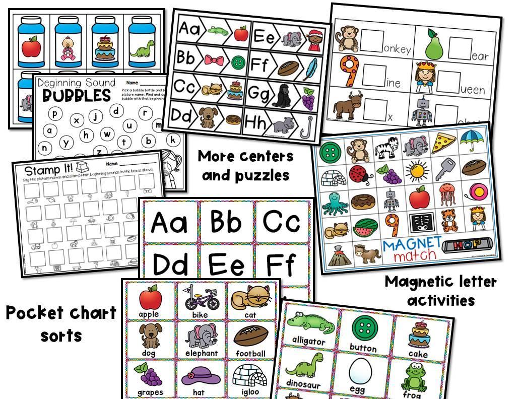 Preschool Worksheets Beginning Sounds 6