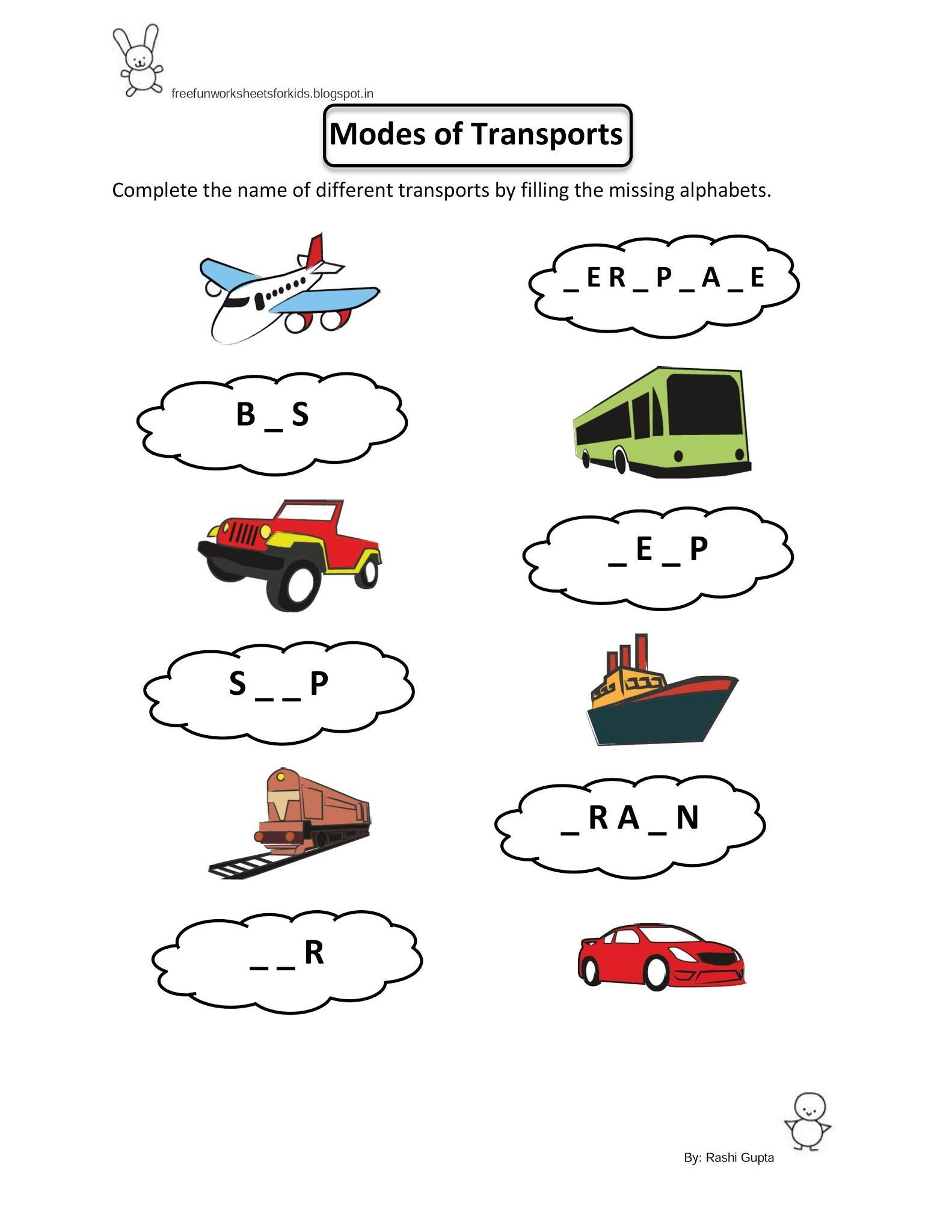 Preschool Worksheets Evs 3