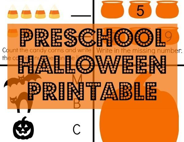Preschool Worksheets For Halloween