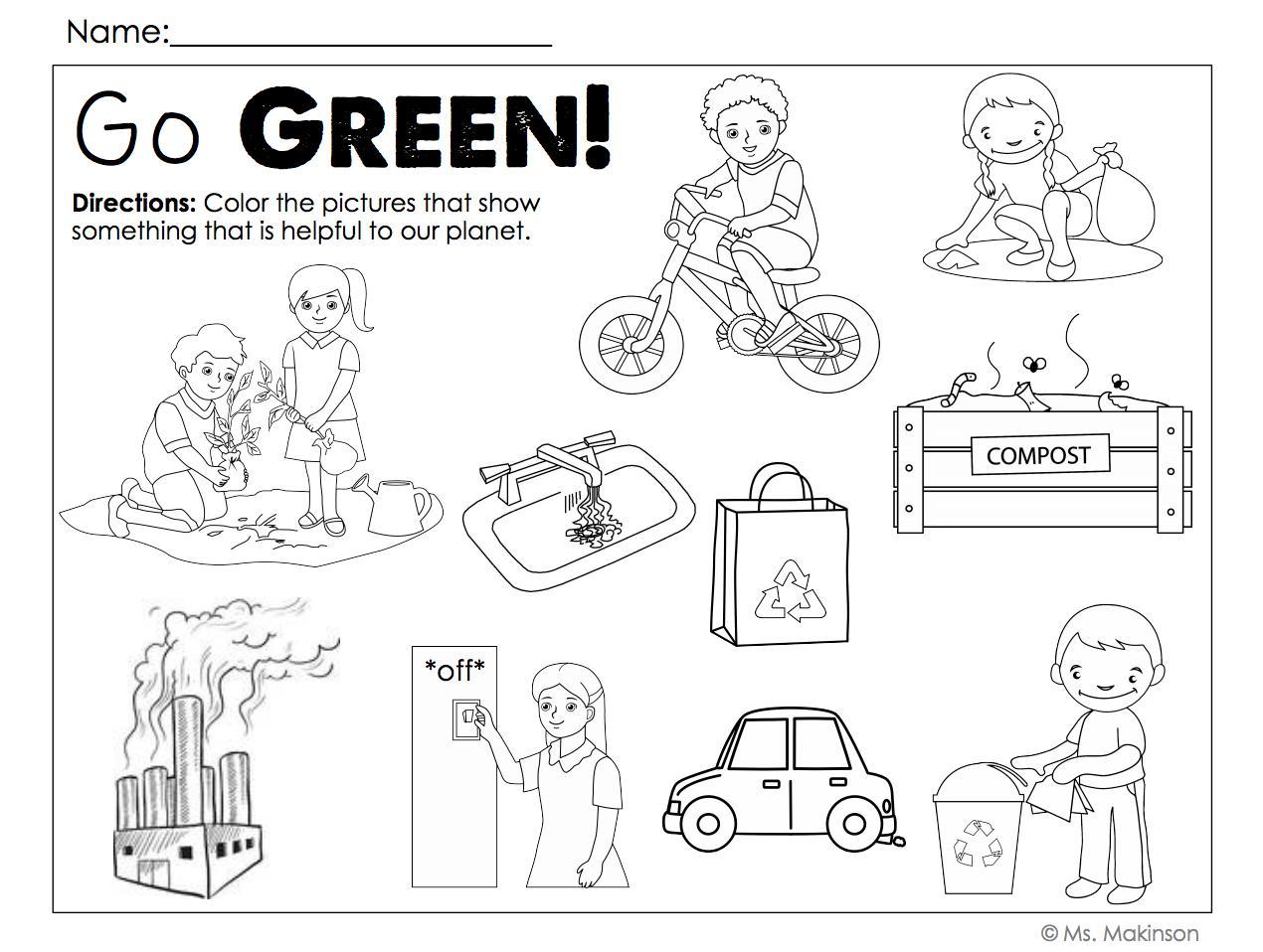 Preschool Worksheets Green 7