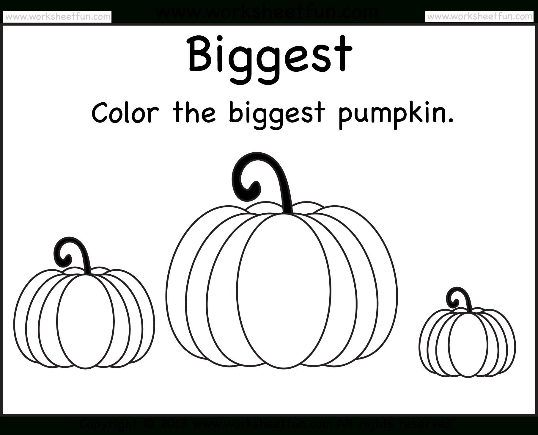 Printable Preschool Halloween Worksheets