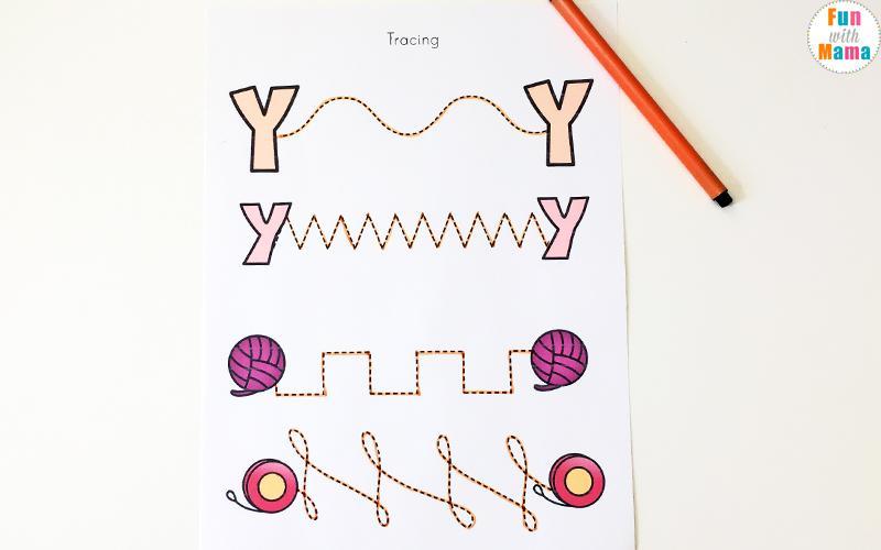 Free Letter Y Worksheets For Preschool