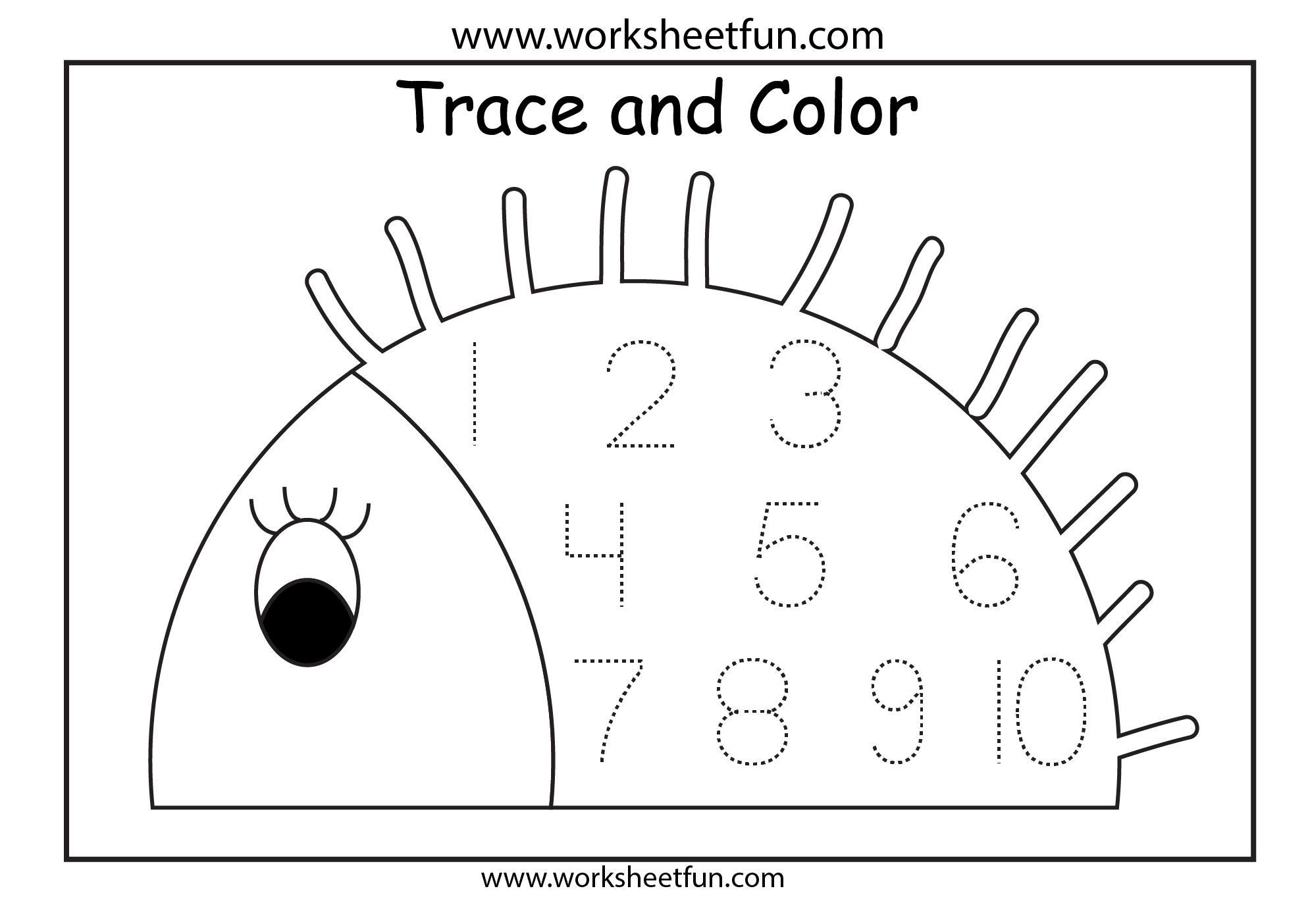 Free Printable Preschool Worksheets Tracing Numbers