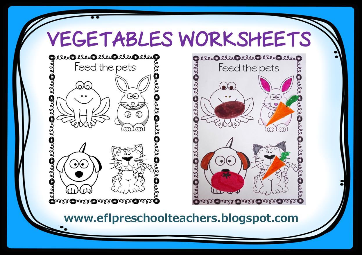 Fruits And Vegetables Worksheets For Preschoolers Pdf