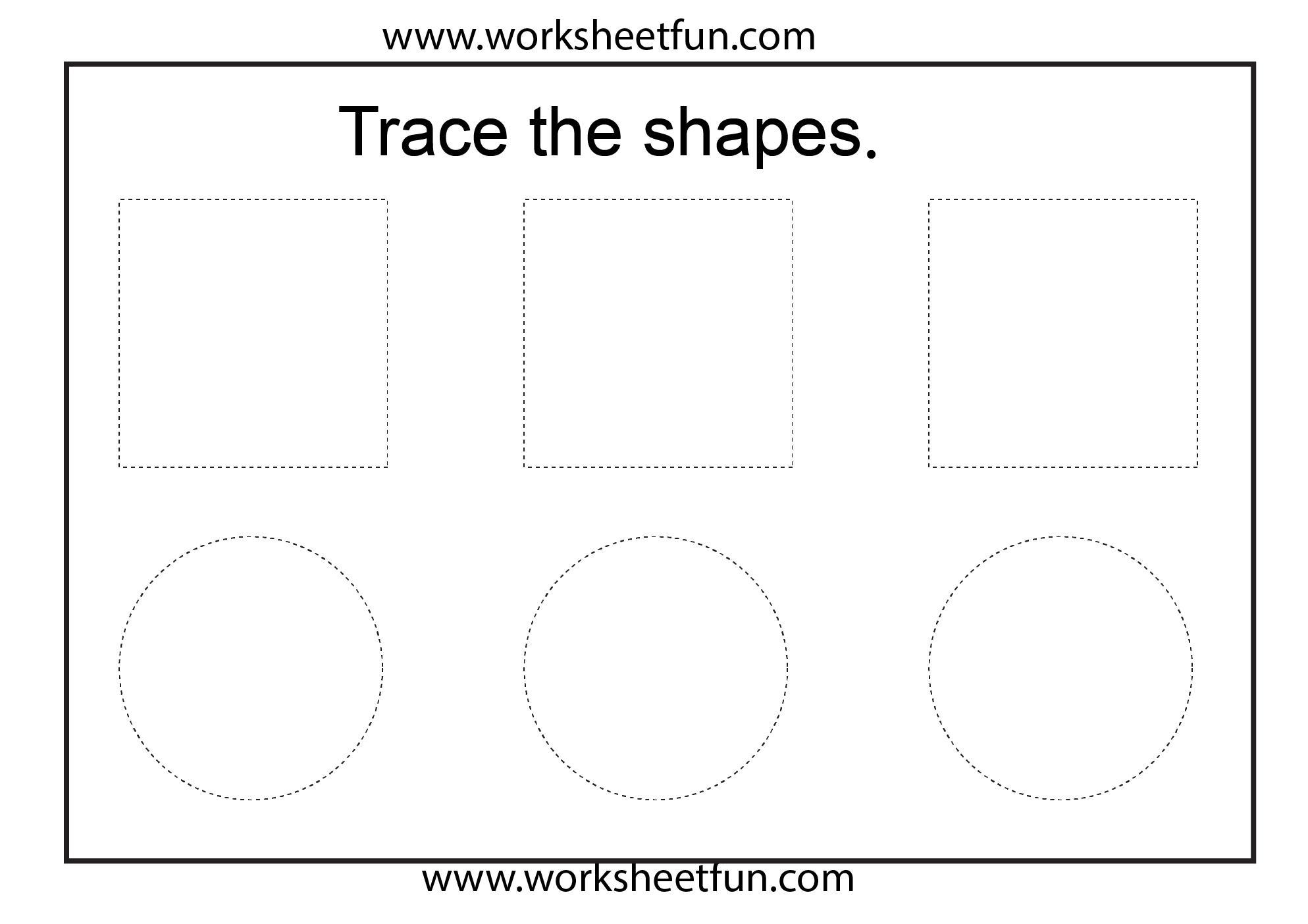 Kindergarten Worksheets Tracing Shapes