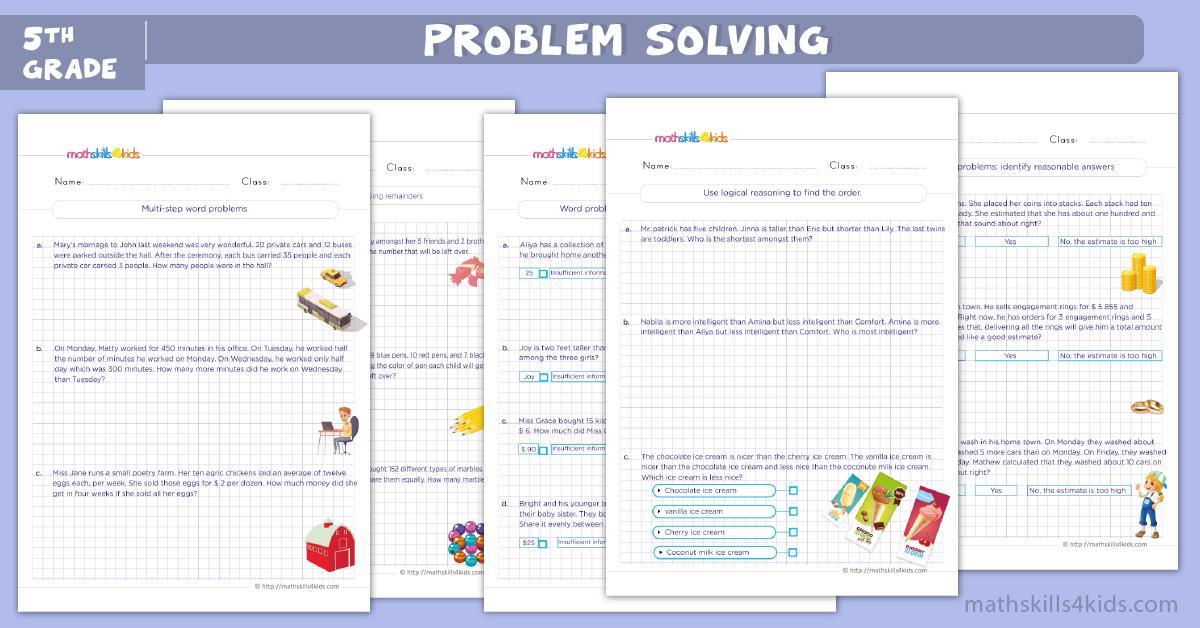 Math Worksheet For Class 5 Icse