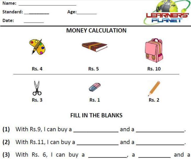 Math Worksheets Grade 2 Word Problems