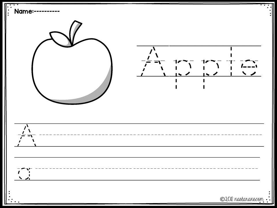 Preschool A To Z Worksheets