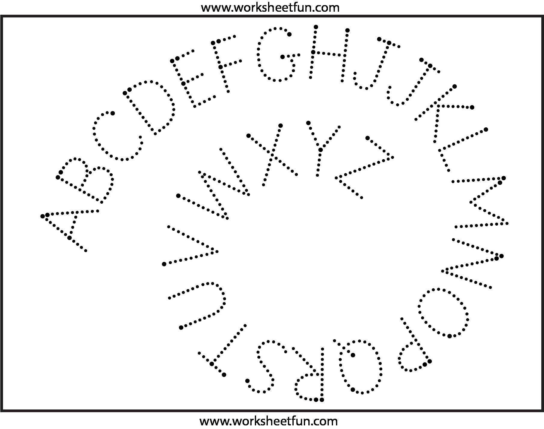 Preschool Alphabet X Worksheet 9