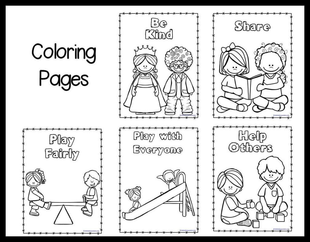 Preschool Kindness Worksheets 1