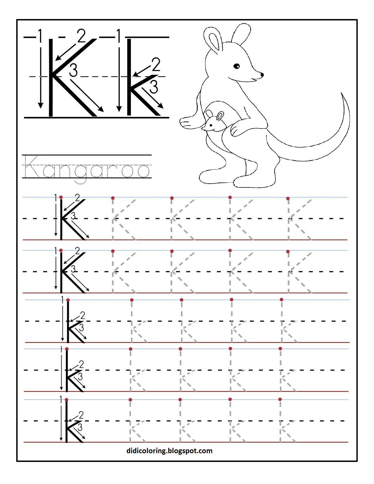 Preschool Letter K Worksheets