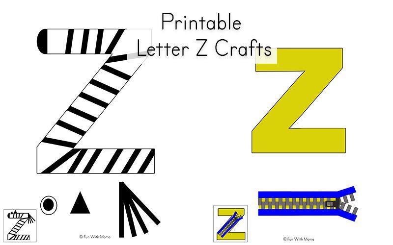 Preschool Letter Z Worksheets