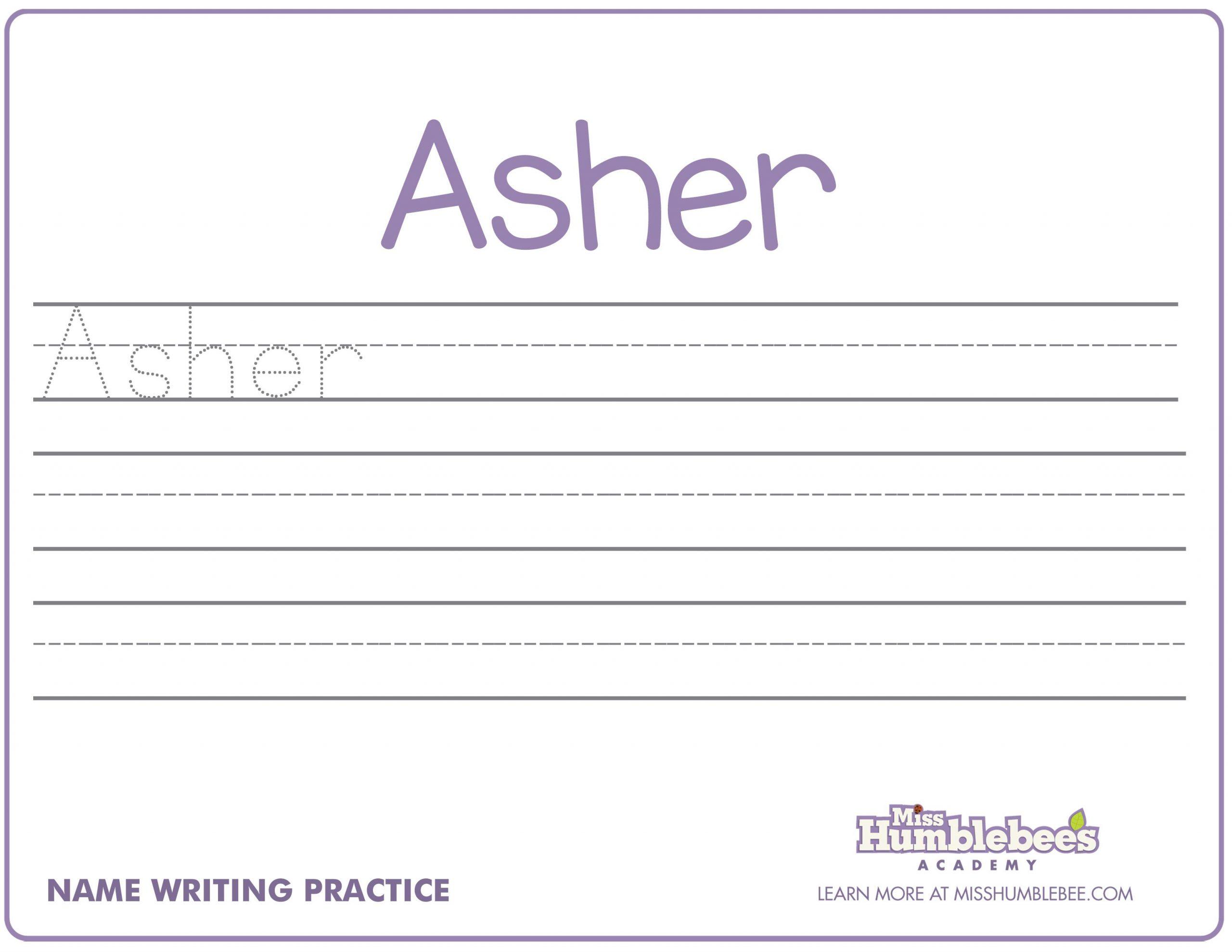 Preschool Name Handwriting Worksheets