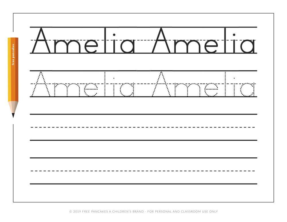 Preschool Name Practice Worksheets