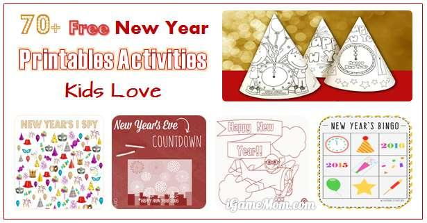 Preschool New Years Worksheets 6