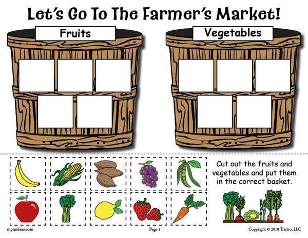 Preschool Vegetable Worksheets 2