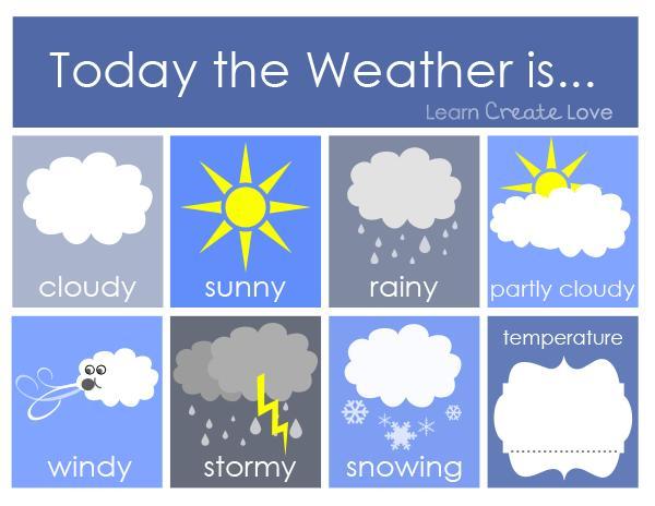 Preschool Worksheets For Weather