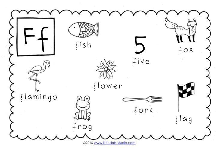 Preschool Worksheets Letter F 1