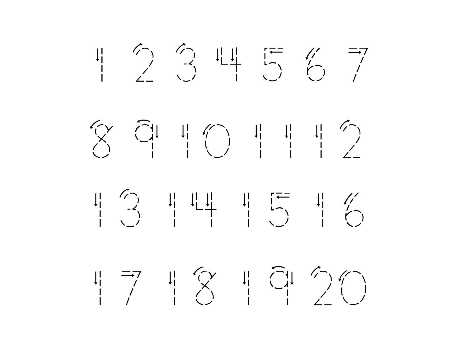 Preschool Worksheets Numbers 1-20 1