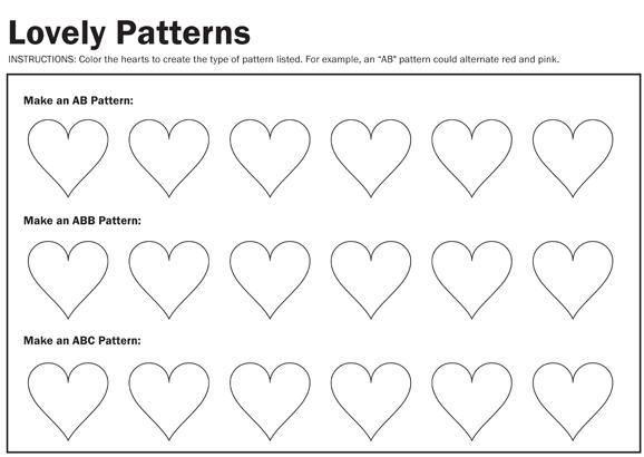 Preschool Worksheets On Patterns