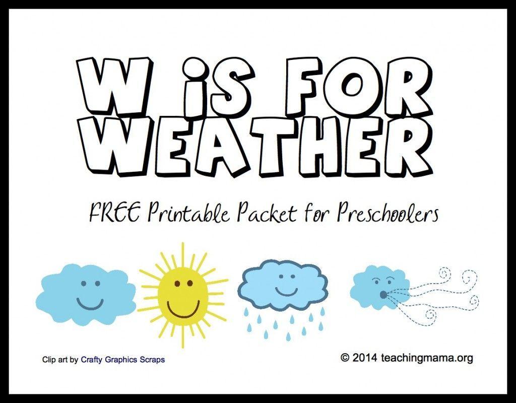 Preschool Worksheets Weather 2