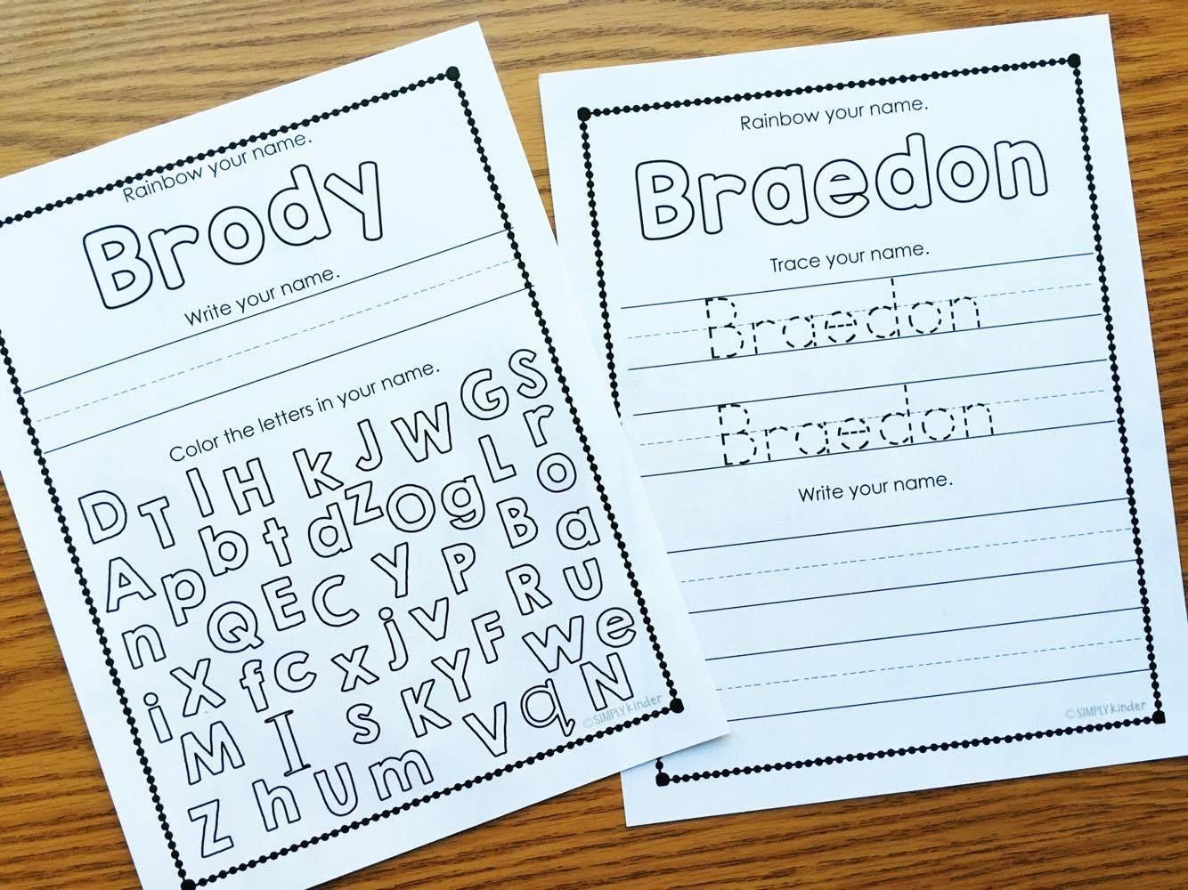 Preschool Worksheets Writing Name 4