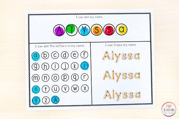 Preschool Worksheets Writing Name 6
