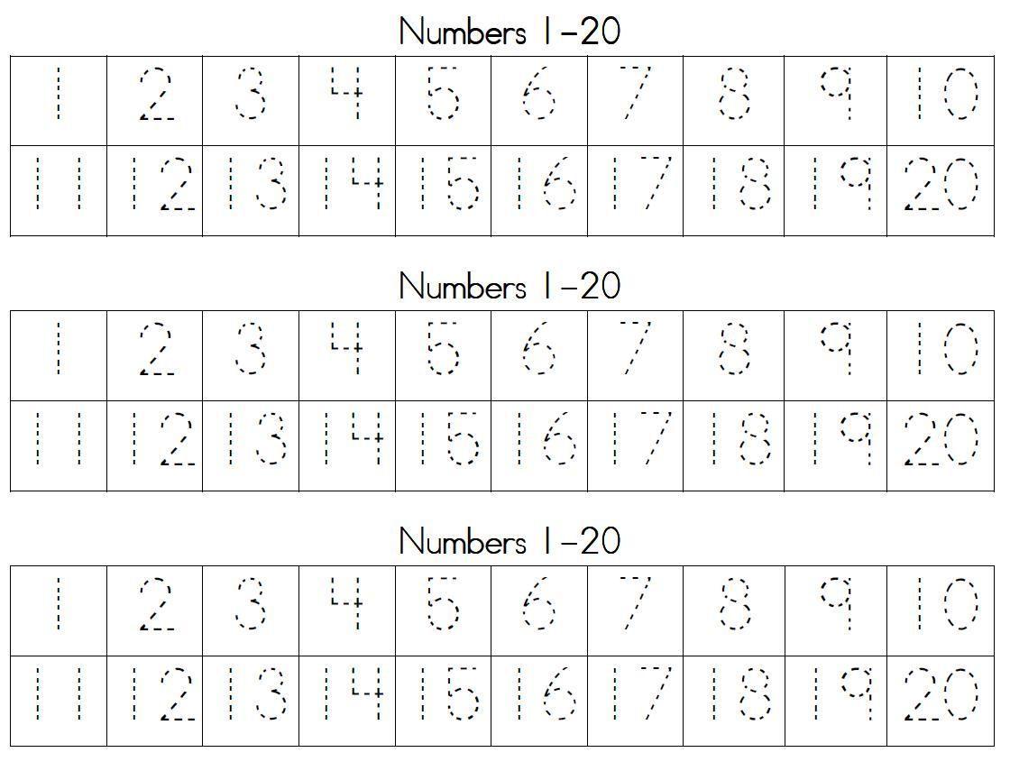 Preschool Worksheets Writing Numbers 6