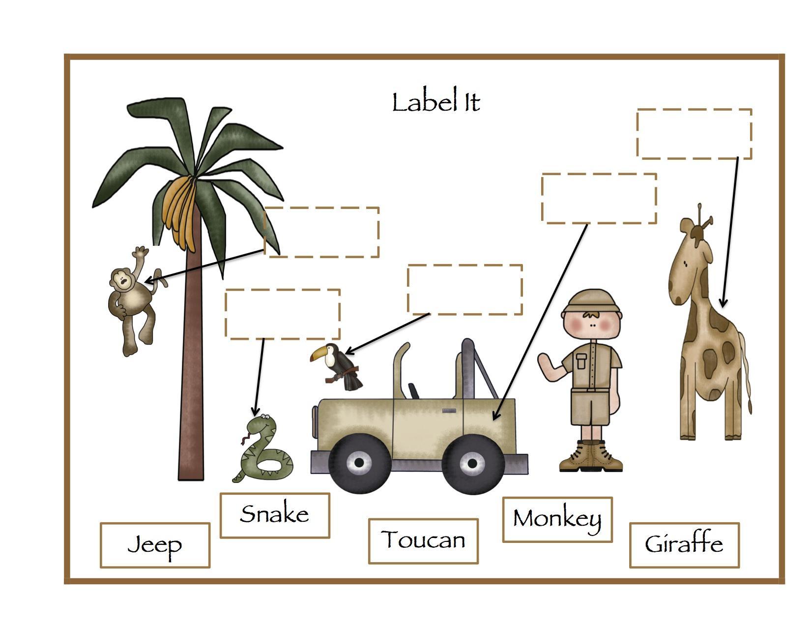 Preschool Worksheets Zoo Animals 5