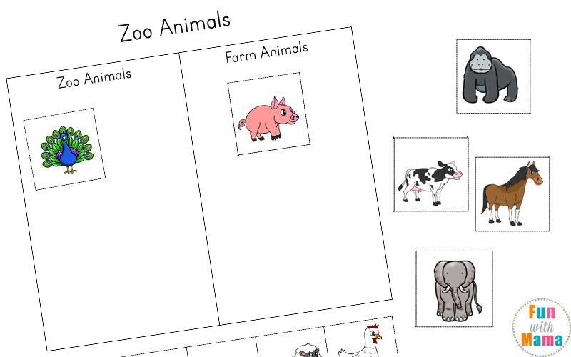 Preschool Worksheets Zoo Animals 8