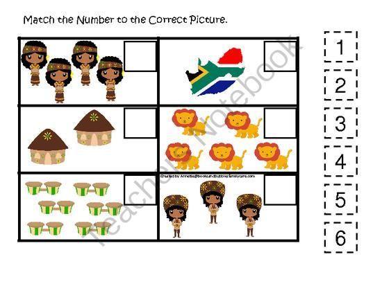 South African Preschool Worksheets