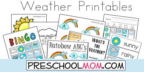Winter Weather Worksheets For Preschool