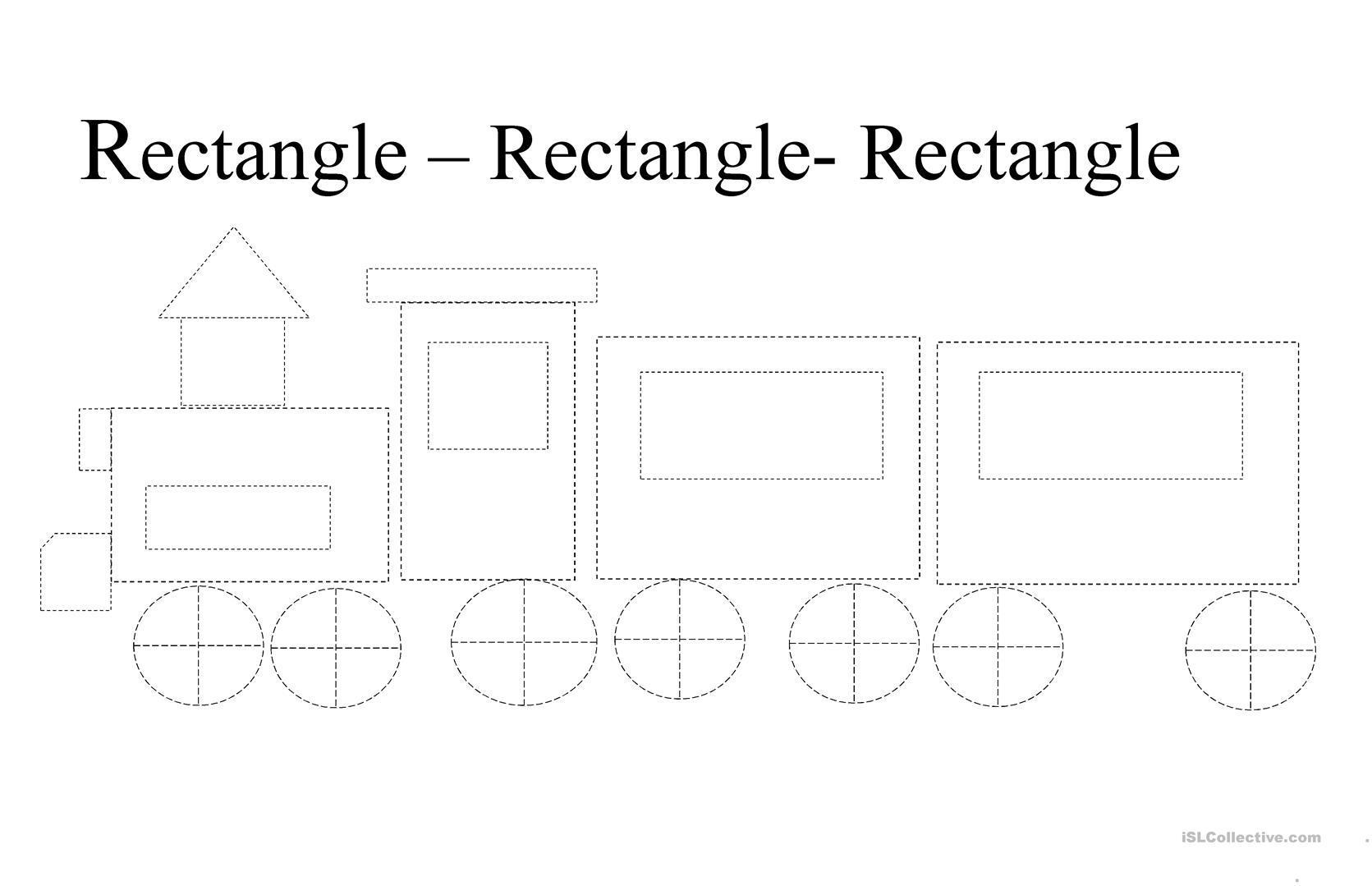Worksheets On Rectangle For Preschool 4