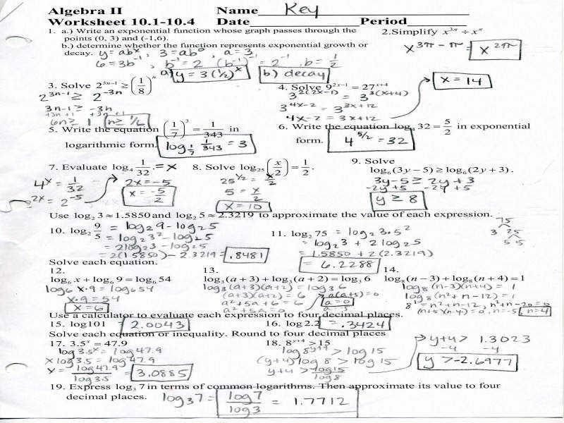 Algebra 1 Worksheets And Answers