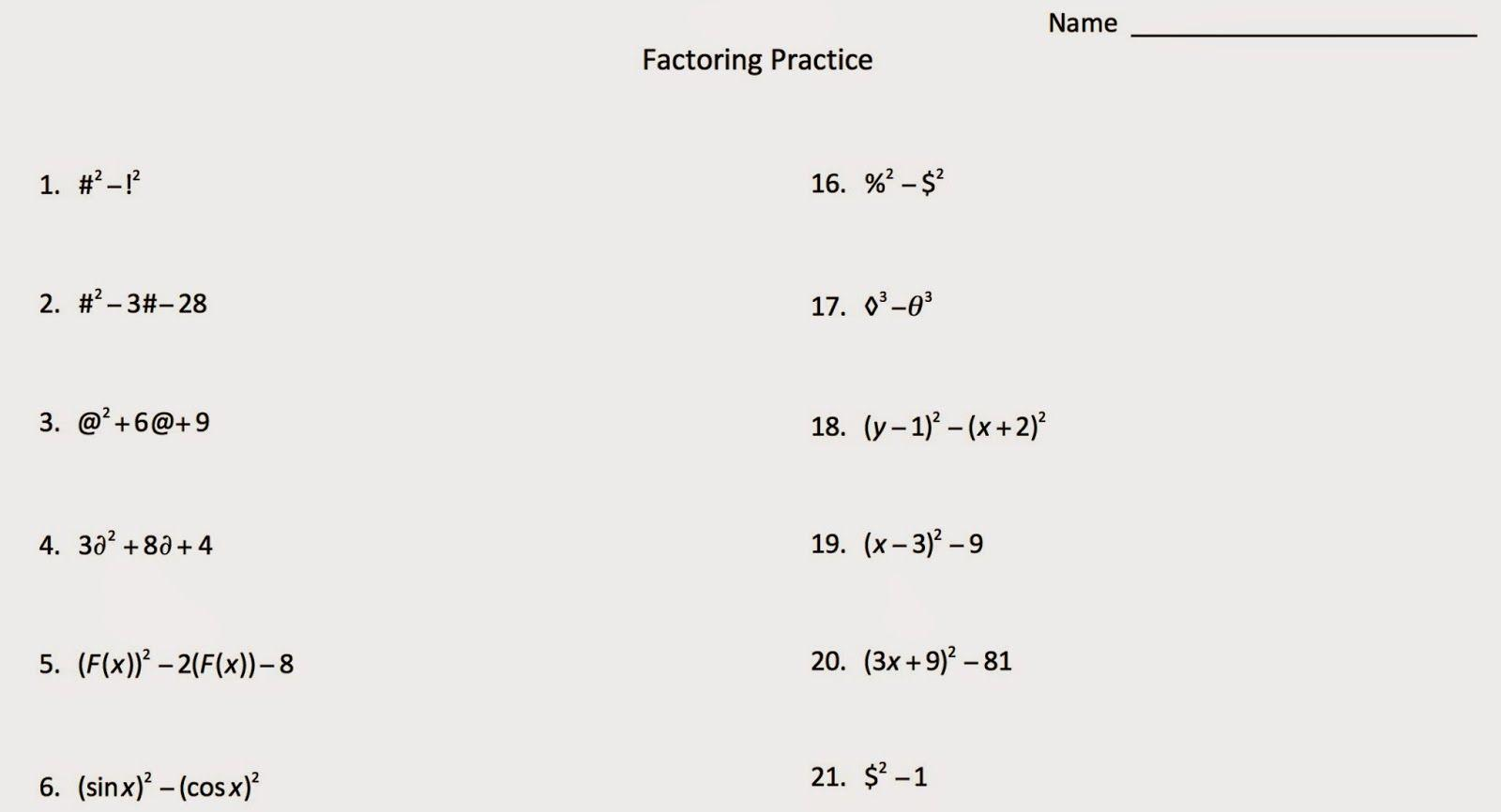 Algebra 2 Worksheets And Answers