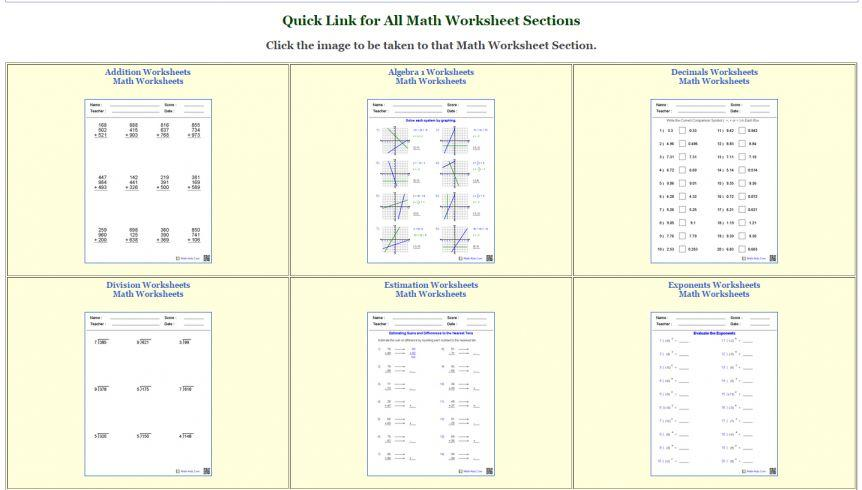Free Printable Math Worksheets Order Of Operations