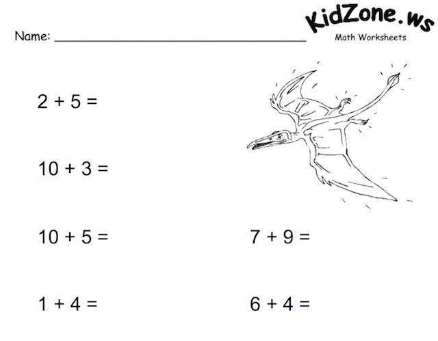 Kidzone Math Worksheets 1