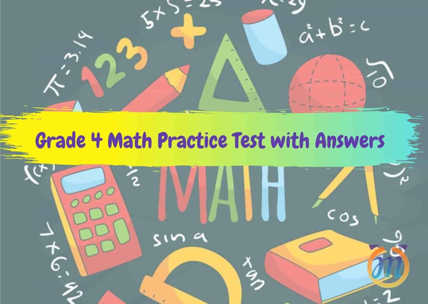 Math Quiz Worksheets For Grade 4 2