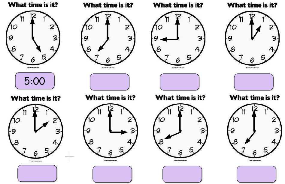 Math Time Worksheets Grade 1