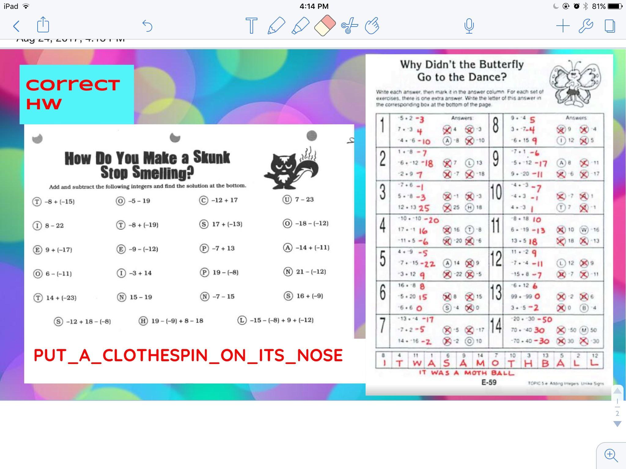 Math Worksheets Junior High 1