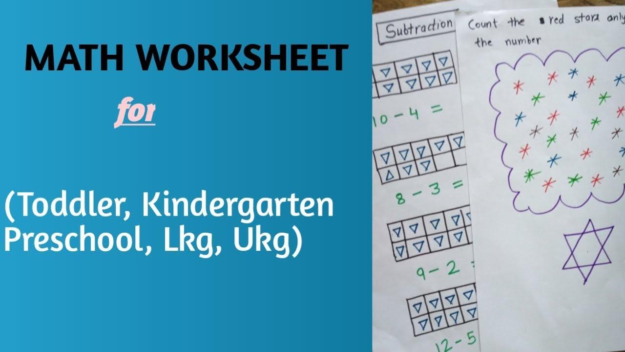Math Worksheets Lkg 3