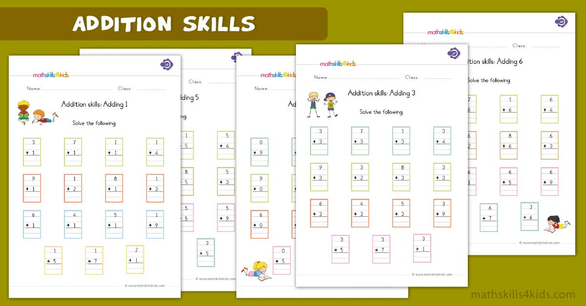 Math Worksheets Single Digit Addition 2