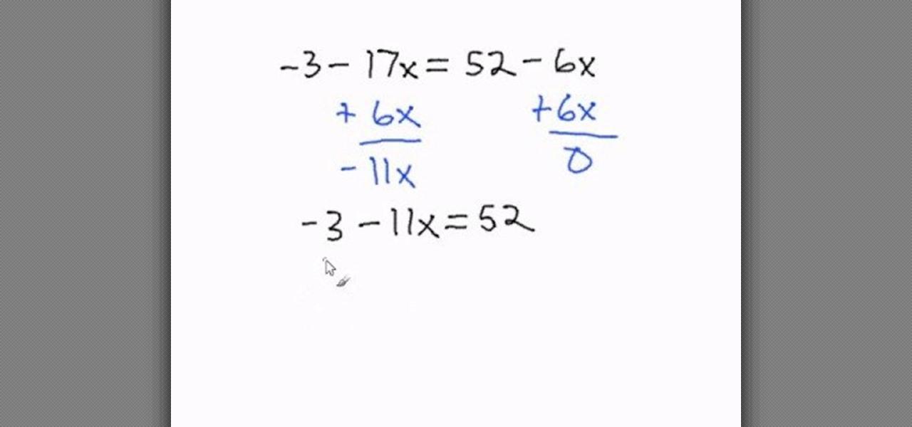 Math Worksheets Variables On Both Sides 2