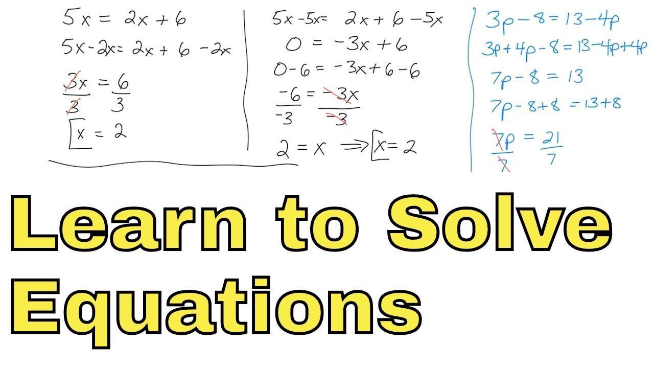Math Worksheets Variables On Both Sides 5