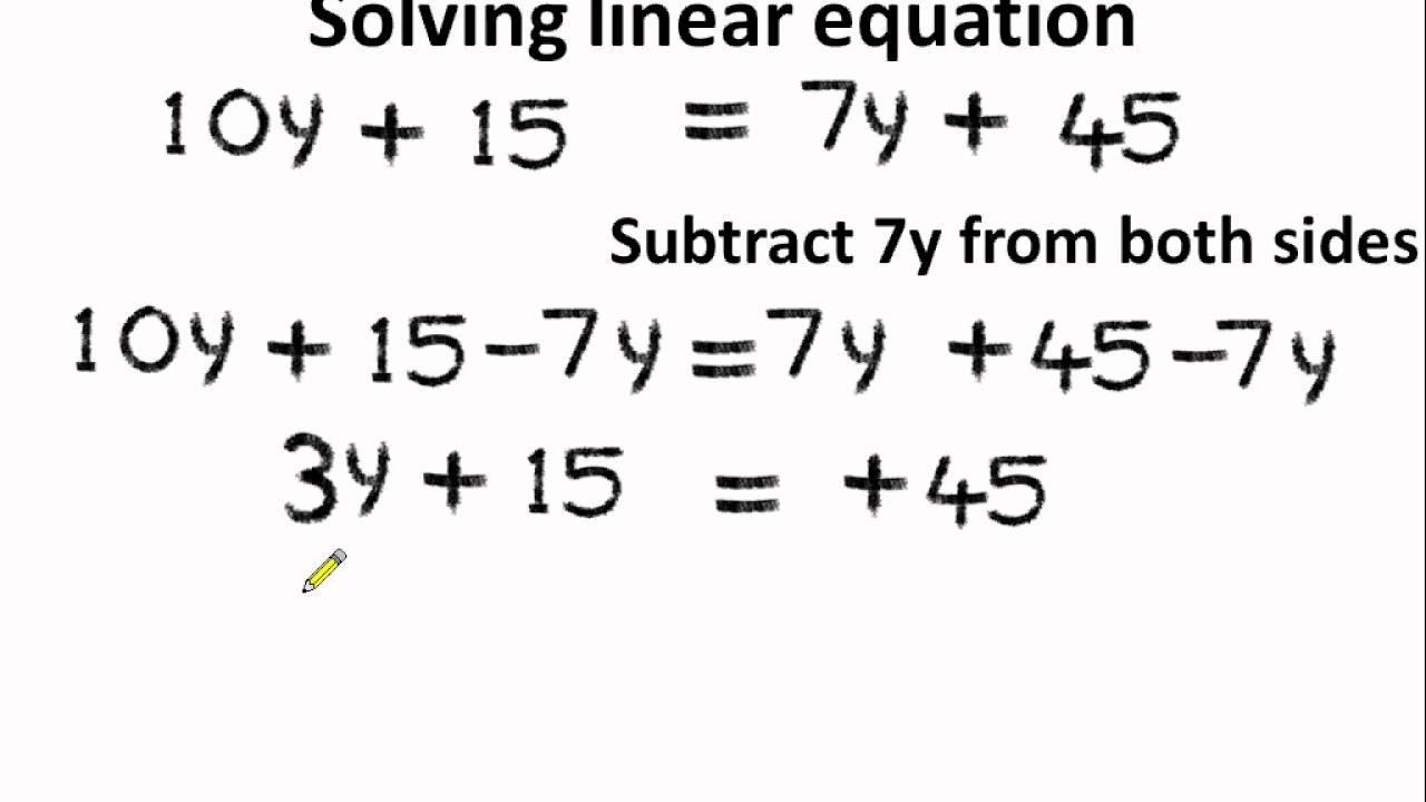 Math Worksheets Variables On Both Sides 7