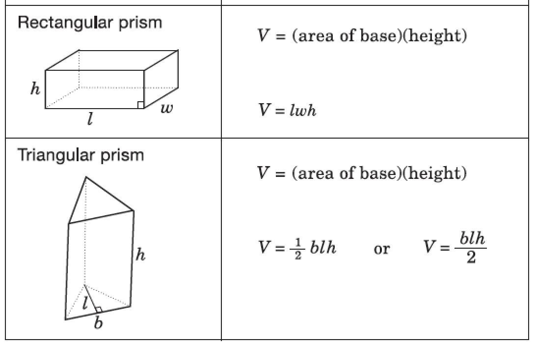 Math Worksheets Volume Of Triangular Prism 3