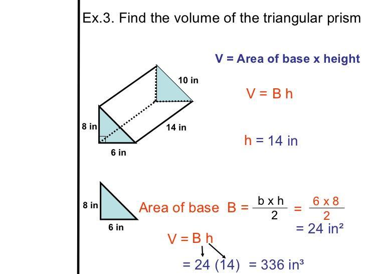 Math Worksheets Volume Of Triangular Prism 5