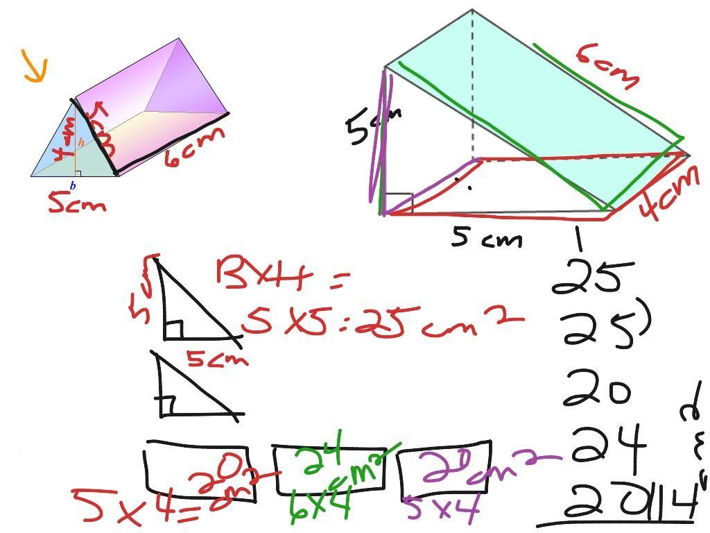 Math Worksheets Volume Of Triangular Prism 6