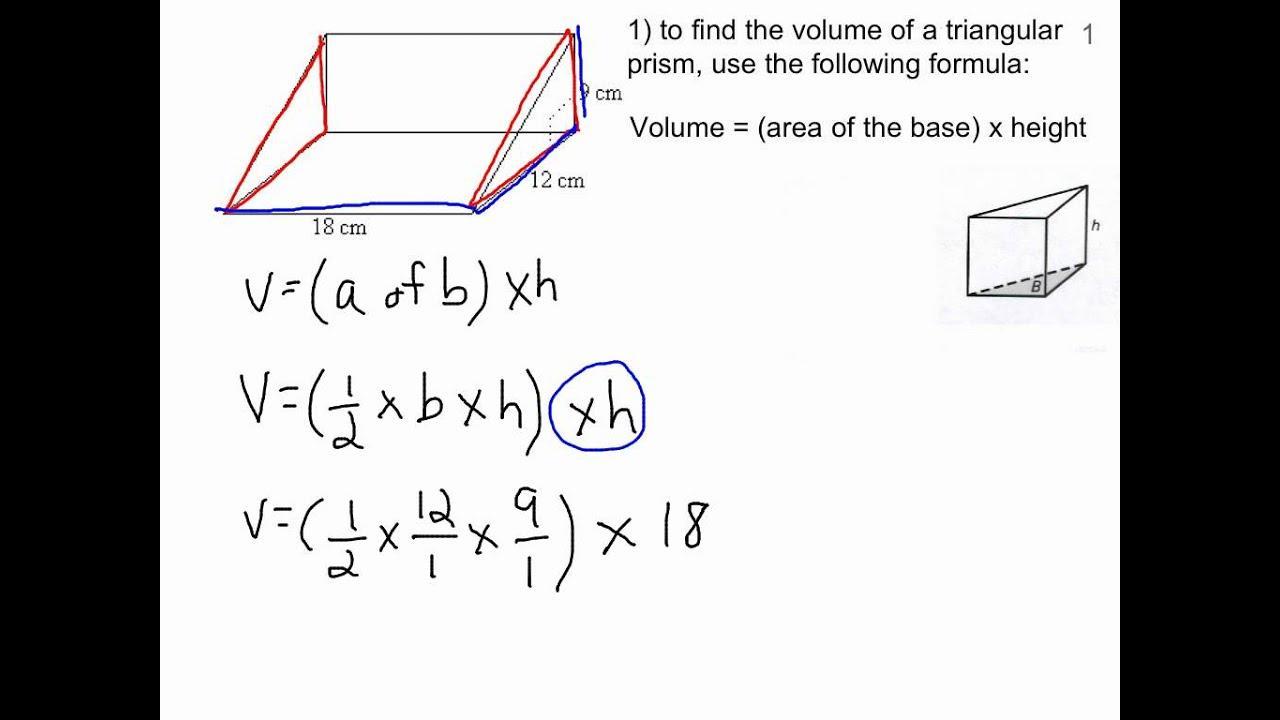 Math Worksheets Volume Of Triangular Prism 7